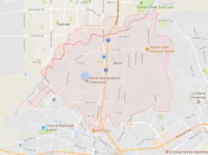 Map of Norco CA